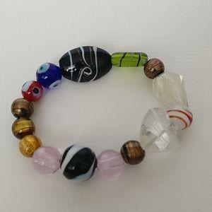Italian art glass bracelet